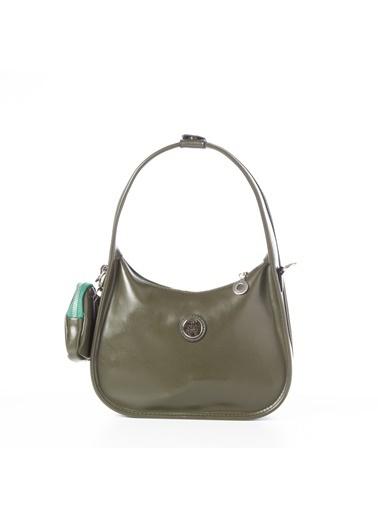 TH Bags TH Bags 2THCW2020085 Fermuarlı Cüzdanlı Kadın Omuz Çantası Haki